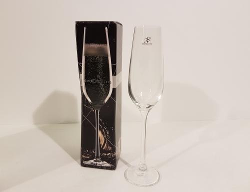 Champagne kristal glas