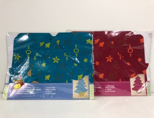 Knutsel Kerstboom Karton Mix kleur