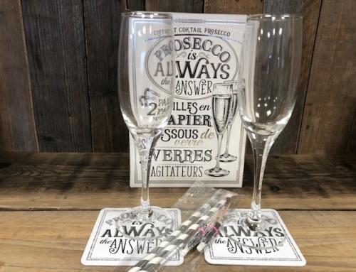 Prosecco Coctail Glas Gift Set van 2  PR0027