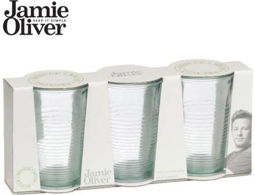 Jamie Oliver Glazen Transparant set van 3
