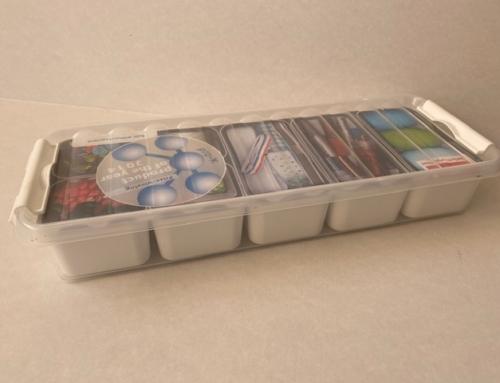 Sunware Q-Line Mixed Box 2,5 L + 7 Baskets (4x 0,15L + 3x 0,35L ) Transparant Wit  82010604