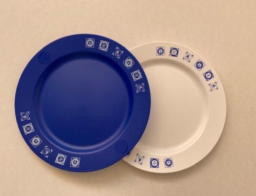 Sunware Free Time Bord Blauw/ Wit met Opdruk  Mix 801211