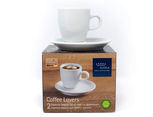Kahla Espresso kopje met onderbordje Set van 2 Porselein Wit