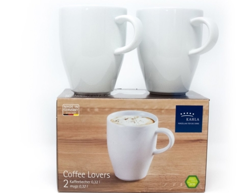 Kahla Koffiebekers set van 2 pcs 0,32 L Porselein Wit
