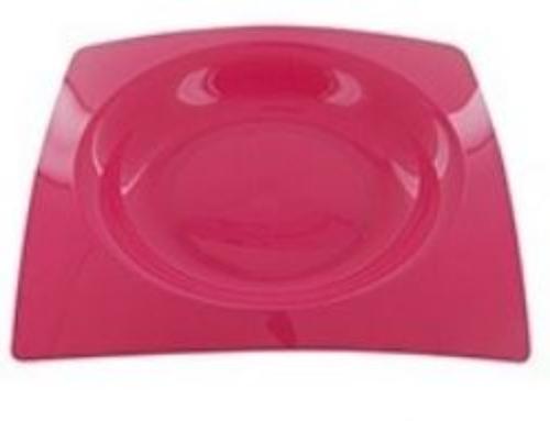 Plastic Borden Tablea Set van 8 pcs Mix Kleuren