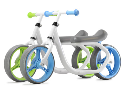 PexMax Speed  Loopfiets Balance Bike Aluminum – Blauw/Groen Mix