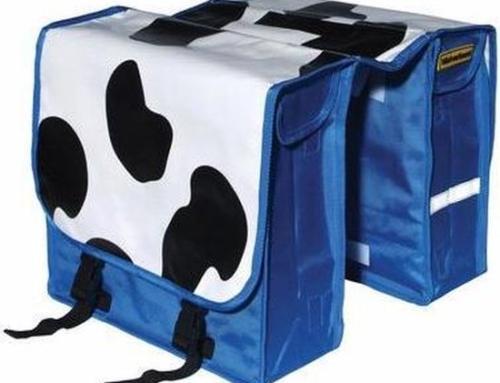Dubbele Fietstas niet verkeerd Koeienvlekken – 22 l – Multi 1801263