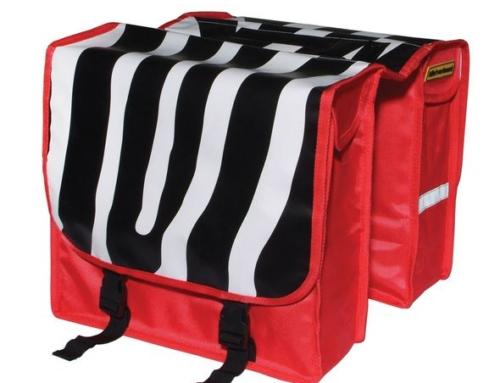 Dubbele Fietstas niet verkeerd Zebra – 22 l – Multi 1801267