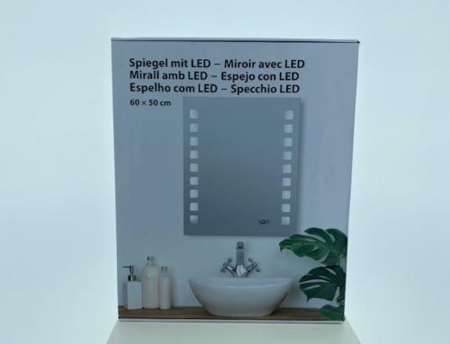 Led spiegel 60×50 cm (geen verkoop in DE)
