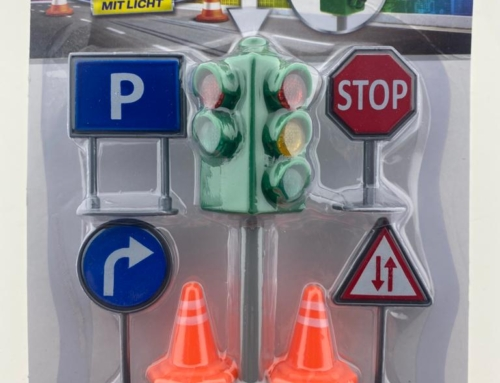 Stoplicht set Ampel mit verkehrszeichen