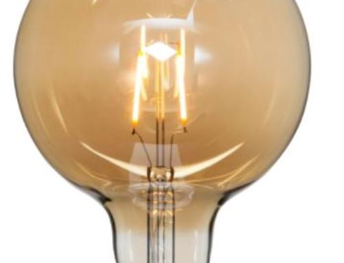 LED LAMP E27 G125 PLAIN AMBER Kleurtemperatuur 2000