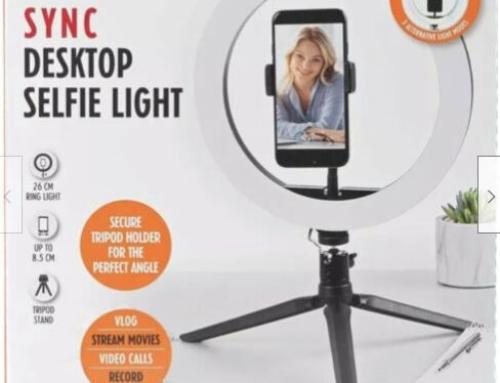 Selfie Light Ring Stand Intempo 26cm